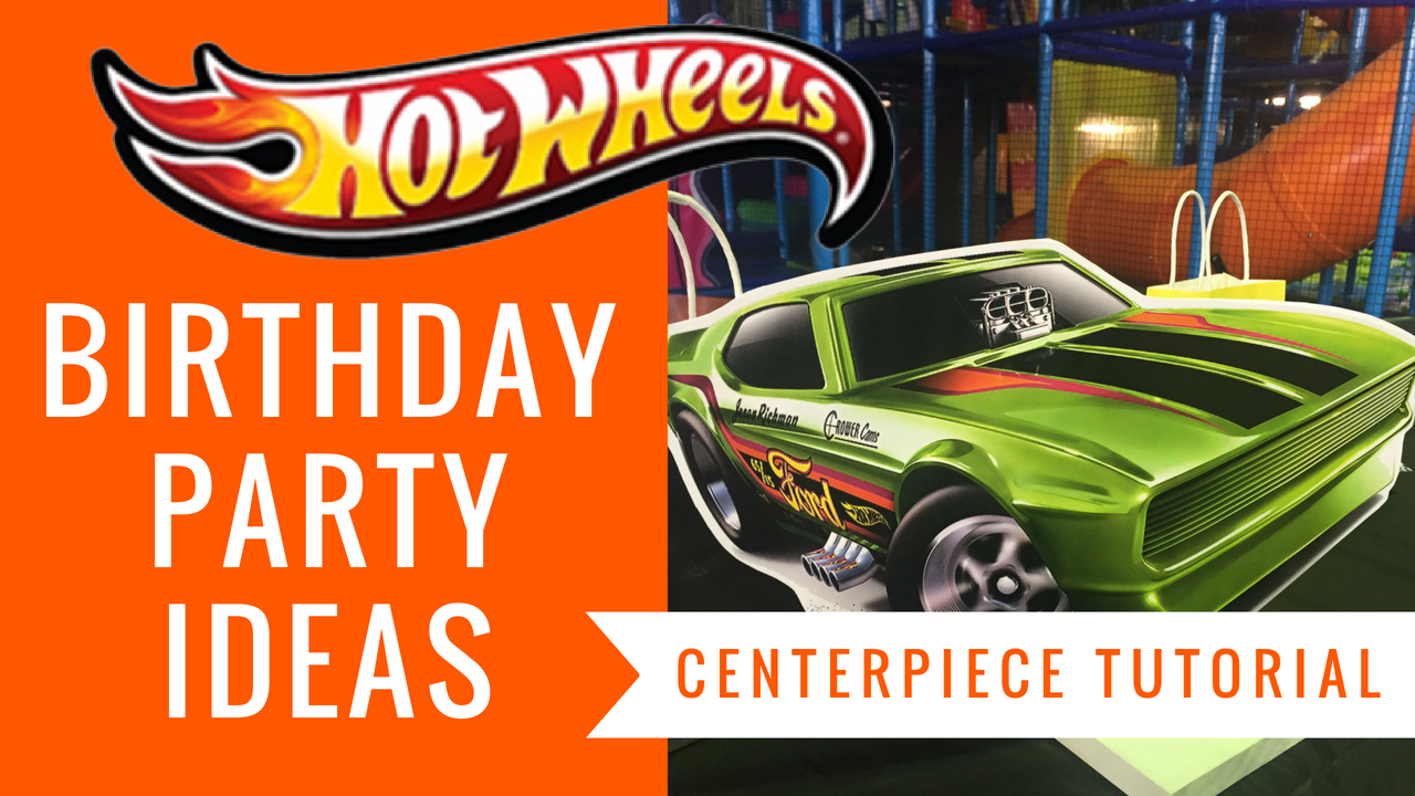 free hot wheels centerpiece birthday party ideas tutorials included