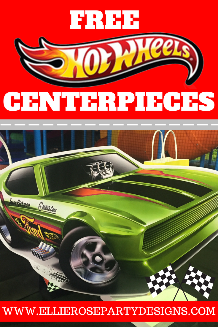 Free Hot Wheels Centerpiece Birthday Party Ideas Tutorials Included Ellierosepartydesigns Com