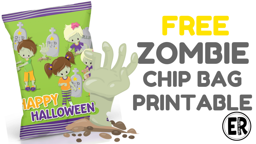 FREE ZOMBIE CHIP BAG PRINTABLE TEMPLATE HALLOWEEN