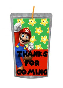 SUPER MARIO BROTHER CAPRI SUN LABELS