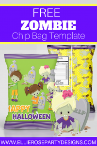 free zombie halloween chip bag printables