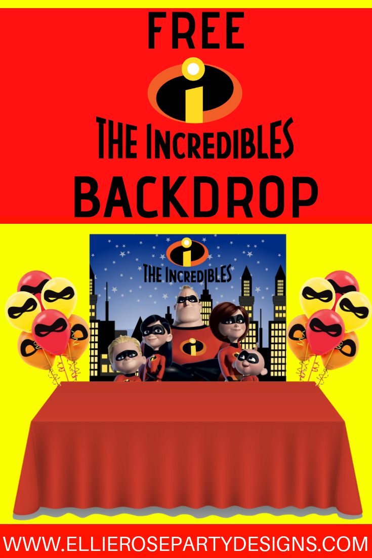 FREE INCREDIBLES BACKDROP