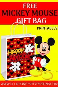 MICKEY MOUSE GIFT BAG PRINTABLE