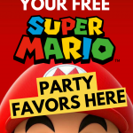 FREE SUPER MARIO BROTHERS PARTY FAVORS RICE KRISPIE TREATS