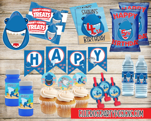 SHARK BIRTHDAY PARTY PRINTABLE PACKAGE 4