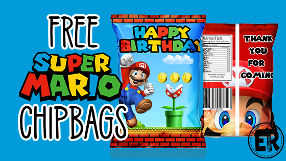 Super Mario Chip Bags Freebie Ellierosepartydesigns Com