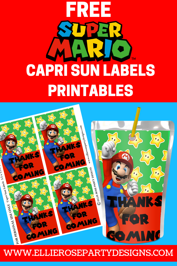 Capri sun labels juice not included, label only