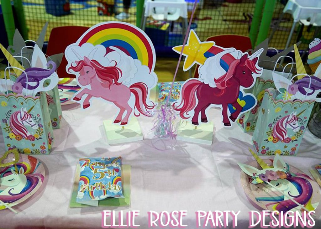 DIY UNICORN RAINBOW TABLE DECORATION CENTERPIECES FREE TO DOWNLOAD 5