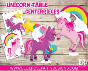 DIY UNICORN TABLE DECORATION CENTERPIECES FREE TO DOWNLOAD