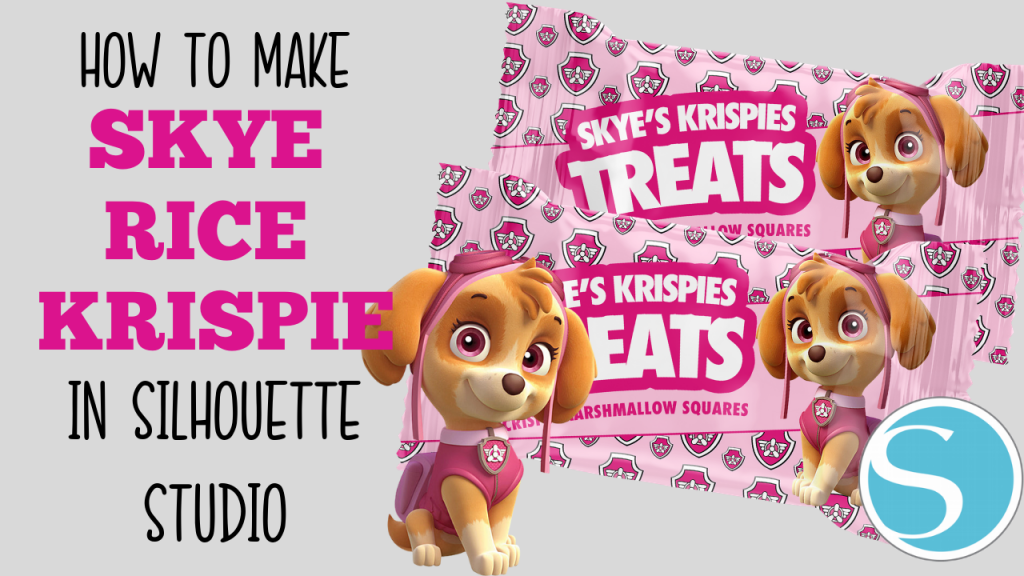 HOW TO MAKE SKYE PAW PATROL EVEREST RICE KRISPIE TREAT IN SILHOUETTE STUDIO