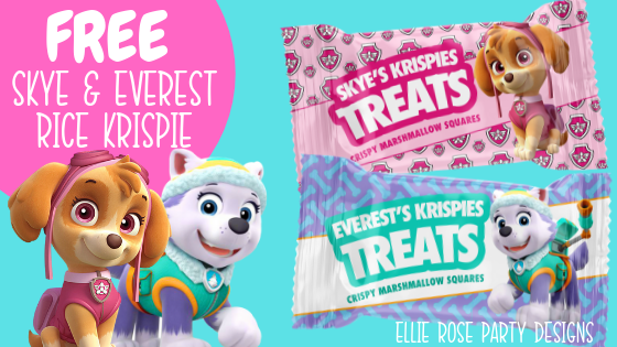 FREE PAW PATROL SKYE AND EVEREST RICE KRISPIE TREAT PRINTABLES