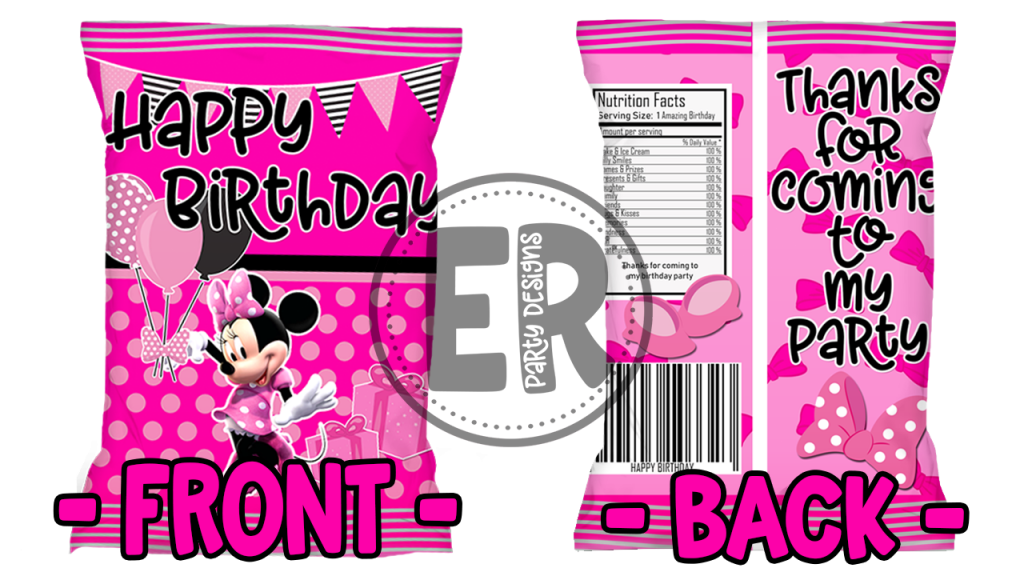 FREE MINNIE MOUSE CHIP BAG PRINTABLE TEMPLATE FRONT AND BACK