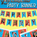 FREE AVENGERS HAPPY BIRTHDAY PARTY BANNER