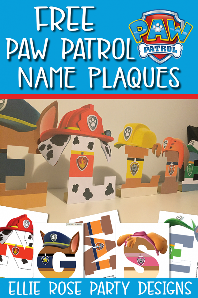 Free Paw Patrol Birthday Party Table Set Up Printable