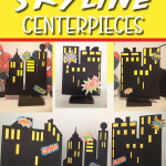 Free DIY Superhero Skyline Printable Backdrop