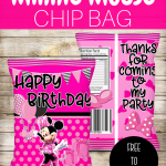 FREE MINNIE MOUSE FAVOR BAG CHIP BAG PRINTABLES DIY