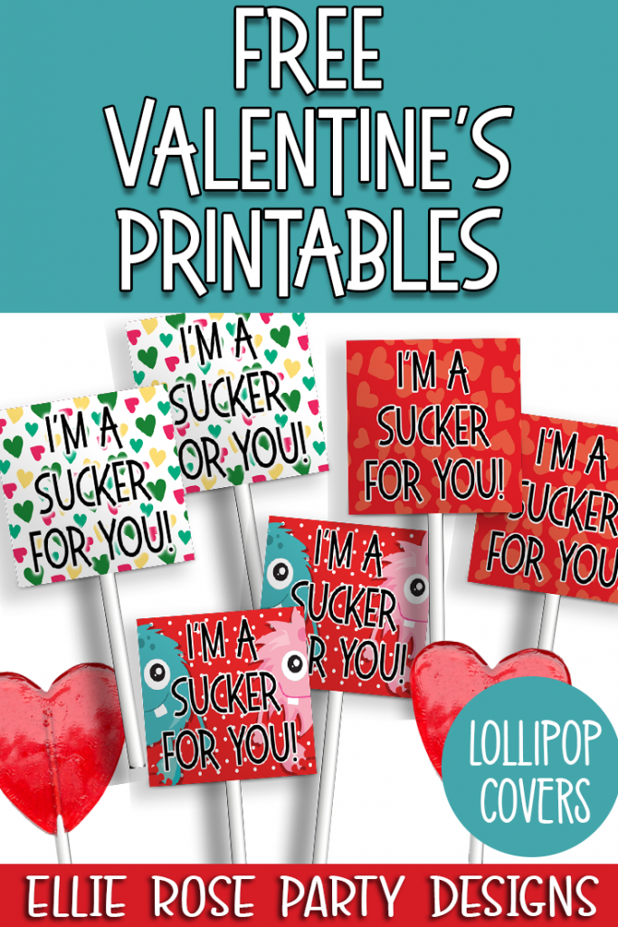 Free Valetine's Day Lollipop Covers for Kids classrooms