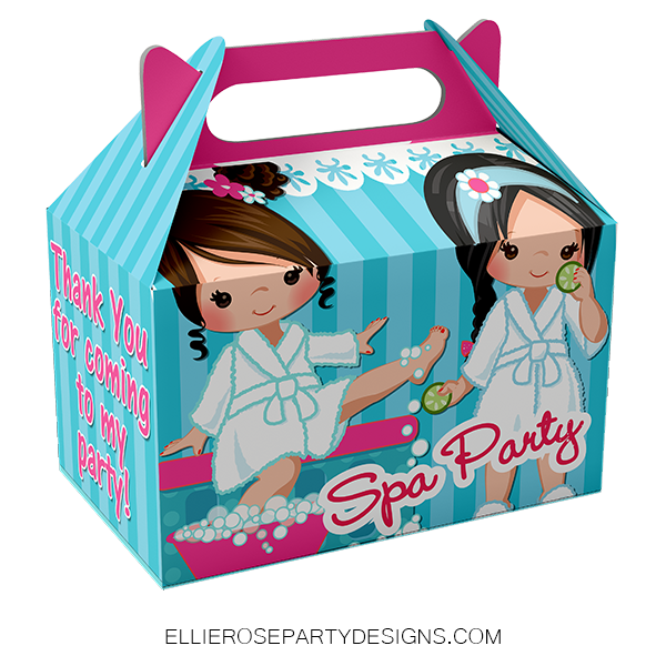SPA PAMPER GABEL BOX PARTY FAVOR